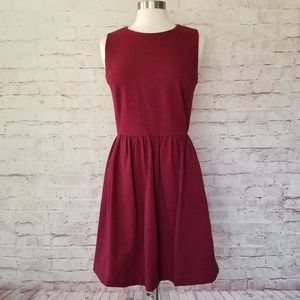 NWT J. Crew Factory A-Line Maroon Knit Dress
